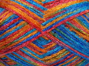 Fiber Content 50% Polyamide, 37% Acrylic, 13% Mohair, Red, Orange, Brand Ice Yarns, Blue Shades, Yarn Thickness 3 Light  DK, Light, Worsted, fnt2-65452