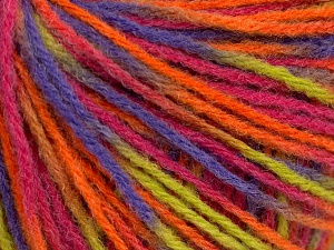 Fiber Content 50% Acrylic, 50% Wool, Pink, Orange, Lilac, Light Green, Brand Ice Yarns, Yarn Thickness 3 Light  DK, Light, Worsted, fnt2-65484