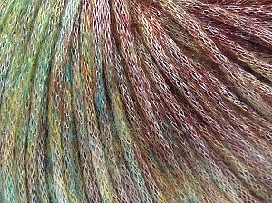 Fiber Content 62% Polyester, 19% Acrylic, 19% Merino Wool, Maroon Shades, Brand Ice Yarns, Green Shades, Yarn Thickness 4 Medium  Worsted, Afghan, Aran, fnt2-65501