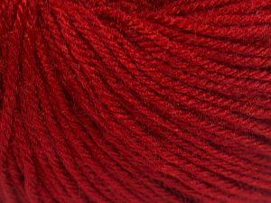 Fiber Content 40% Acrylic, 40% Merino Wool, 20% Polyamide, Brand Ice Yarns, Dark Red, Yarn Thickness 2 Fine  Sport, Baby, fnt2-65584