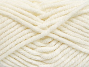 Fiber Content 50% Acrylic, 50% Wool, White, Brand Ice Yarns, Yarn Thickness 6 SuperBulky  Bulky, Roving, fnt2-65603