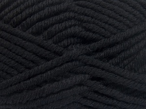 Fiber Content 50% Acrylic, 50% Wool, Brand Ice Yarns, Black, Yarn Thickness 6 SuperBulky  Bulky, Roving, fnt2-65605