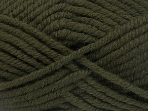 Fiber Content 50% Acrylic, 50% Wool, Brand Ice Yarns, Dark Khaki, Yarn Thickness 6 SuperBulky  Bulky, Roving, fnt2-65610