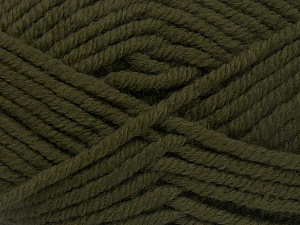 Fiber Content 50% Acrylic, 50% Wool, Khaki, Brand Ice Yarns, Yarn Thickness 6 SuperBulky  Bulky, Roving, fnt2-65611