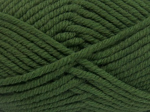 Fiber Content 50% Acrylic, 50% Wool, Brand Ice Yarns, Green, Yarn Thickness 6 SuperBulky  Bulky, Roving, fnt2-65615