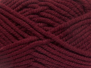 Fiber Content 50% Acrylic, 50% Wool, Brand Ice Yarns, Burgundy, Yarn Thickness 6 SuperBulky  Bulky, Roving, fnt2-65616