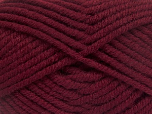 Fiber Content 50% Acrylic, 50% Wool, Brand Ice Yarns, Burgundy, Yarn Thickness 6 SuperBulky  Bulky, Roving, fnt2-65618