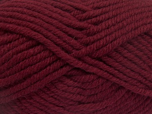 Fiber Content 50% Acrylic, 50% Wool, Brand Ice Yarns, Burgundy, Yarn Thickness 6 SuperBulky  Bulky, Roving, fnt2-65619