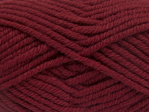 Fiber Content 50% Acrylic, 50% Wool, Brand Ice Yarns, Burgundy, Yarn Thickness 6 SuperBulky  Bulky, Roving, fnt2-65620