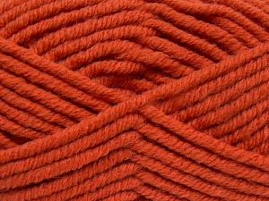 Fiber Content 50% Acrylic, 50% Wool, Brand Ice Yarns, Dark Orange, Yarn Thickness 6 SuperBulky  Bulky, Roving, fnt2-65633