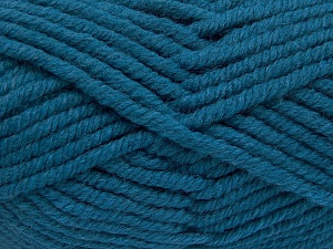 Fiber Content 50% Acrylic, 50% Wool, Turquoise, Brand Ice Yarns, Yarn Thickness 6 SuperBulky  Bulky, Roving, fnt2-65636