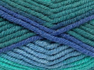 Fiber Content 50% Acrylic, 50% Wool, Brand Ice Yarns, Green Shades, Blue Shades, Yarn Thickness 6 SuperBulky  Bulky, Roving, fnt2-65640