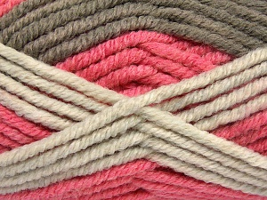 Fiber Content 50% Acrylic, 50% Wool, Salmon Shades, Brand Ice Yarns, Camel, Beige, Yarn Thickness 6 SuperBulky  Bulky, Roving, fnt2-65642