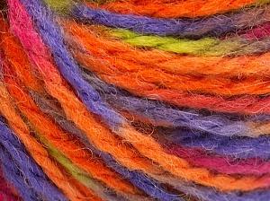 Fiber Content 50% Acrylic, 50% Wool, Orange, Lilac, Light Green, Brand Ice Yarns, Fuchsia, Yarn Thickness 4 Medium  Worsted, Afghan, Aran, fnt2-65657