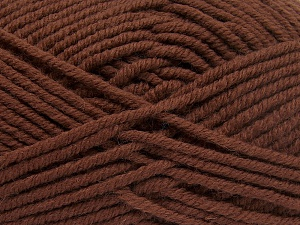 Fiber Content 70% Acrylic, 30% Wool, Brand Ice Yarns, Brown, Yarn Thickness 5 Bulky  Chunky, Craft, Rug, fnt2-65715