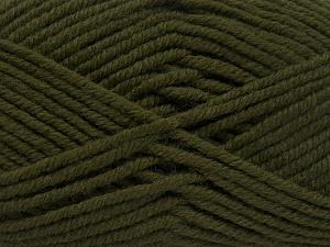Fiber Content 70% Acrylic, 30% Wool, Brand Ice Yarns, Dark Khaki, Yarn Thickness 5 Bulky  Chunky, Craft, Rug, fnt2-65716