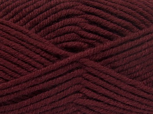 Fiber Content 70% Acrylic, 30% Wool, Brand Ice Yarns, Burgundy, Yarn Thickness 5 Bulky  Chunky, Craft, Rug, fnt2-65720