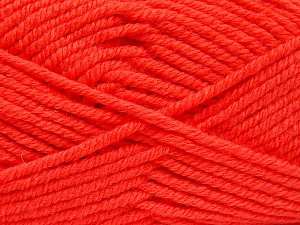 Fiber Content 70% Acrylic, 30% Wool, Neon Orange, Brand Ice Yarns, Yarn Thickness 5 Bulky  Chunky, Craft, Rug, fnt2-65723