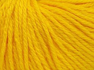 Fiber Content 40% Merino Wool, 40% Acrylic, 20% Polyamide, Yellow, Brand Ice Yarns, Yarn Thickness 3 Light  DK, Light, Worsted, fnt2-65734