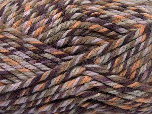 Fiber Content 75% Acrylic, 25% Superwash Wool, Purple Shades, Khaki, Brand Ice Yarns, Gold, Yarn Thickness 6 SuperBulky  Bulky, Roving, fnt2-65758