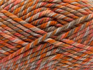 Fiber Content 75% Acrylic, 25% Superwash Wool, Orange Shades, Brand Ice Yarns, Camel, Beige, Yarn Thickness 6 SuperBulky  Bulky, Roving, fnt2-65761