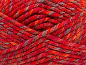 Fiber Content 75% Acrylic, 25% Superwash Wool, Red, Orange Shades, Light Camel, Brand Ice Yarns, Yarn Thickness 6 SuperBulky  Bulky, Roving, fnt2-65763