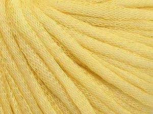 Fiber Content 67% Cotton, 33% Polyamide, Light Yellow, Brand Ice Yarns, Yarn Thickness 4 Medium  Worsted, Afghan, Aran, fnt2-65772