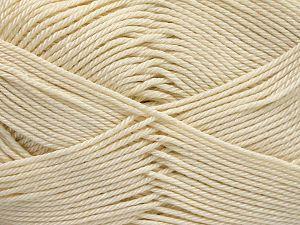Fiber Content 100% Mercerised Cotton, Brand Ice Yarns, Cream, Yarn Thickness 2 Fine  Sport, Baby, fnt2-65791