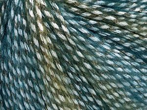 Fiber Content 40% Polyamide, 35% Acrylic, 15% Mohair, 10% Metallic Lurex, Turquoise, Brand Ice Yarns, Green Shades, Yarn Thickness 3 Light  DK, Light, Worsted, fnt2-65802