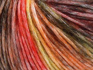 Fiber Content 50% Modal, 35% Acrylic, 15% Wool, Yellow, Orange Shades, Brand Ice Yarns, Black, Yarn Thickness 4 Medium  Worsted, Afghan, Aran, fnt2-65849