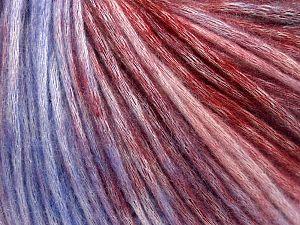Fiber Content 50% Modal, 35% Acrylic, 15% Wool, Lilac Shades, Brand Ice Yarns, Burgundy Shades, Yarn Thickness 4 Medium  Worsted, Afghan, Aran, fnt2-65852
