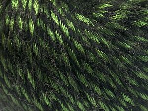 Fiber Content 70% Polyamide, 19% Merino Wool, 11% Acrylic, Brand Ice Yarns, Green, Black, Yarn Thickness 4 Medium  Worsted, Afghan, Aran, fnt2-65898