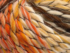 Fiber Content 70% Premium Acrylic, 15% Alpaca, 15% Wool, Orange, Brand Ice Yarns, Gold, Brown, Beige, Yarn Thickness 6 SuperBulky  Bulky, Roving, fnt2-65913