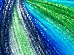 Fiber Content 56% Polyester, 44% Acrylic, White, Brand Ice Yarns, Green Shades, Blue Shades, Yarn Thickness 4 Medium  Worsted, Afghan, Aran, fnt2-65935