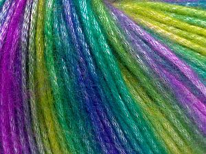 Fiber Content 56% Polyester, 44% Acrylic, Lilac, Brand Ice Yarns, Green Shades, Blue, Yarn Thickness 4 Medium  Worsted, Afghan, Aran, fnt2-65936