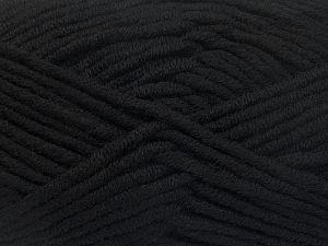 Fiber Content 50% Acrylic, 50% Merino Wool, Brand Ice Yarns, Black, Yarn Thickness 5 Bulky  Chunky, Craft, Rug, fnt2-65937
