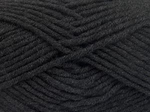 Fiber Content 50% Merino Wool, 50% Acrylic, Brand Ice Yarns, Anthracite Black, Yarn Thickness 5 Bulky  Chunky, Craft, Rug, fnt2-65939