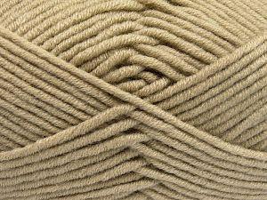 Fiber Content 50% Merino Wool, 50% Acrylic, Brand Ice Yarns, Beige, Yarn Thickness 5 Bulky  Chunky, Craft, Rug, fnt2-65947