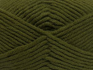 Fiber Content 50% Merino Wool, 50% Acrylic, Brand Ice Yarns, Dark Khaki, Yarn Thickness 5 Bulky  Chunky, Craft, Rug, fnt2-65950