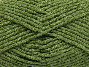 Fiber Content 50% Merino Wool, 50% Acrylic, Khaki, Brand Ice Yarns, Yarn Thickness 5 Bulky  Chunky, Craft, Rug, fnt2-65951