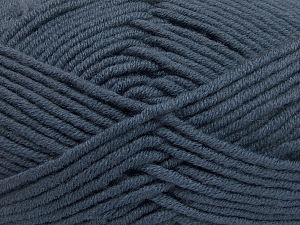 Fiber Content 50% Merino Wool, 50% Acrylic, Brand Ice Yarns, Dark Smoke Blue, Yarn Thickness 5 Bulky  Chunky, Craft, Rug, fnt2-65953
