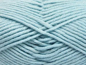 Fiber Content 50% Merino Wool, 50% Acrylic, Brand Ice Yarns, Baby Blue, Yarn Thickness 5 Bulky  Chunky, Craft, Rug, fnt2-65954