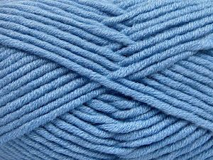 Fiber Content 50% Merino Wool, 50% Acrylic, Light Blue, Brand Ice Yarns, Yarn Thickness 5 Bulky  Chunky, Craft, Rug, fnt2-65955