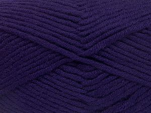 Fiber Content 50% Merino Wool, 50% Acrylic, Purple, Brand Ice Yarns, Yarn Thickness 5 Bulky  Chunky, Craft, Rug, fnt2-65958