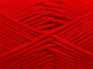 Fiber Content 50% Merino Wool, 50% Acrylic, Red, Brand Ice Yarns, Yarn Thickness 5 Bulky  Chunky, Craft, Rug, fnt2-65966