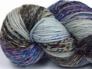 Please note that this is a hand-dyed yarn. Colors in different lots may vary because of the charateristics of the yarn. Also see the package photos for the colorway in full; as skein photos may not show all colors. Fiber Content 75% Super Wash Wool, 25% Polyamide, Maroon, Brand Ice Yarns, Camel Shades, Blue Shades, Yarn Thickness 1 SuperFine  Sock, Fingering, Baby, fnt2-66006