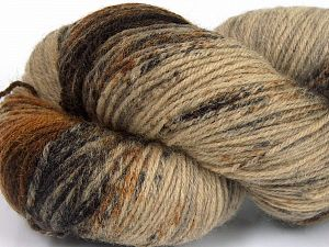 Please note that this is a hand-dyed yarn. Colors in different lots may vary because of the charateristics of the yarn. Also see the package photos for the colorway in full; as skein photos may not show all colors. Fiber Content 75% Super Wash Wool, 25% Polyamide, Orange, Brand Ice Yarns, Brown Shades, Yarn Thickness 1 SuperFine  Sock, Fingering, Baby, fnt2-66009