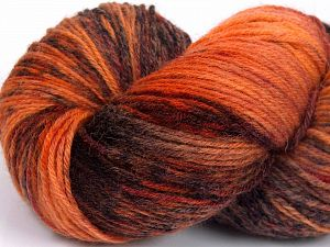 Please note that this is a hand-dyed yarn. Colors in different lots may vary because of the charateristics of the yarn. Also see the package photos for the colorway in full; as skein photos may not show all colors. Fiber Content 75% Super Wash Wool, 25% Polyamide, Orange Shades, Brand Ice Yarns, Brown, Yarn Thickness 1 SuperFine  Sock, Fingering, Baby, fnt2-66010