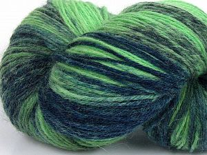 Please note that this is a hand-dyed yarn. Colors in different lots may vary because of the charateristics of the yarn. Also see the package photos for the colorway in full; as skein photos may not show all colors. Fiber Content 75% Super Wash Wool, 25% Polyamide, Brand Ice Yarns, Green Shades, Yarn Thickness 1 SuperFine  Sock, Fingering, Baby, fnt2-66019