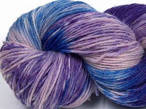 Please note that this is a hand-dyed yarn. Colors in different lots may vary because of the charateristics of the yarn. Also see the package photos for the colorway in full; as skein photos may not show all colors. Fiber Content 75% Super Wash Wool, 25% Polyamide, Purple, Pink, Lilac, Brand Ice Yarns, Blue, Yarn Thickness 1 SuperFine  Sock, Fingering, Baby, fnt2-66021